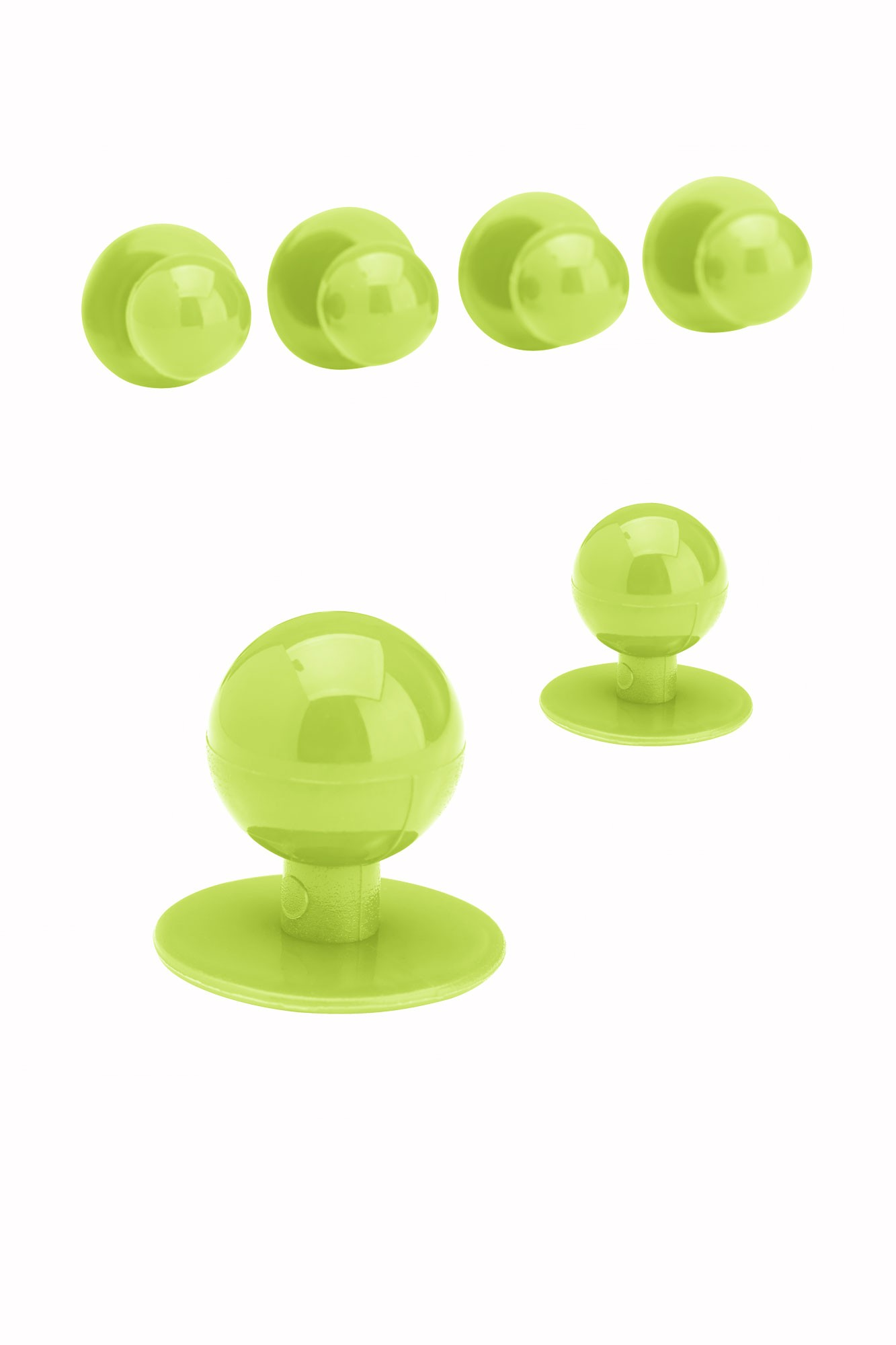 Knoflíky ke kuchařským rondonům -  světle zelená