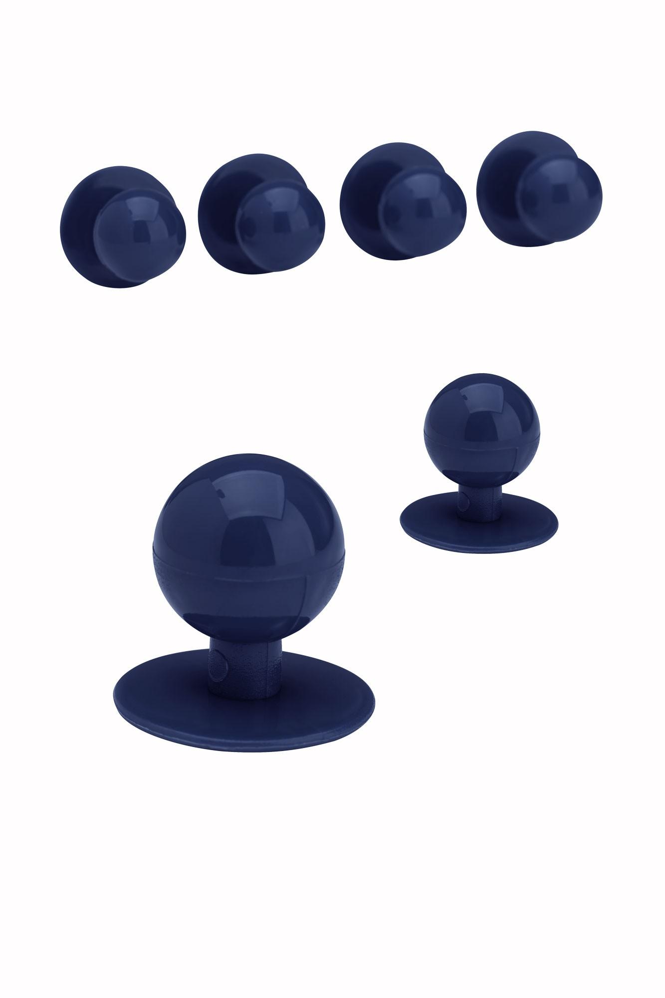 Knoflíky ke kuchařským rondonům - tmavě  modrá