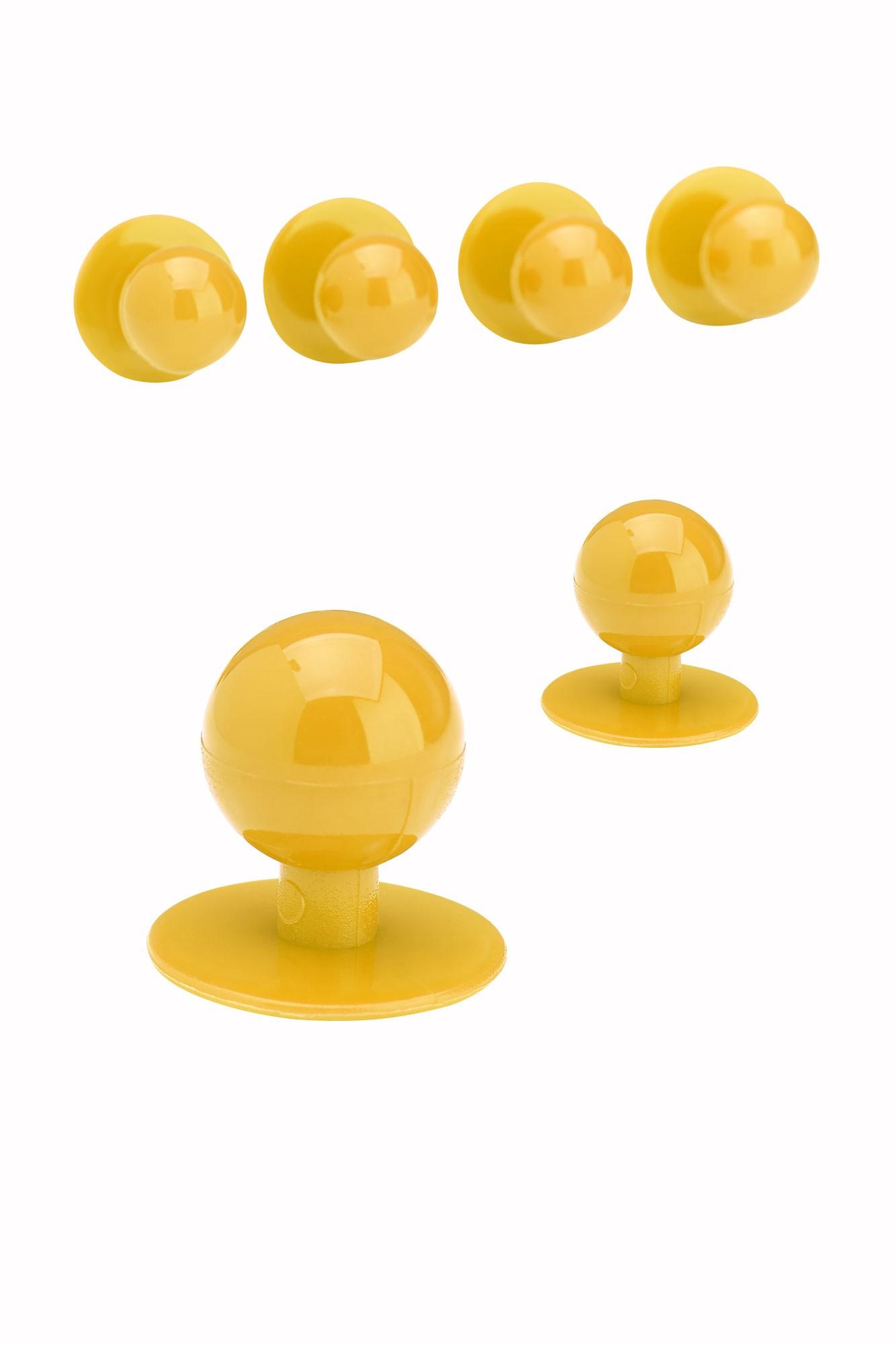 Knoflíky ke kuchařským rondonům - žlutá