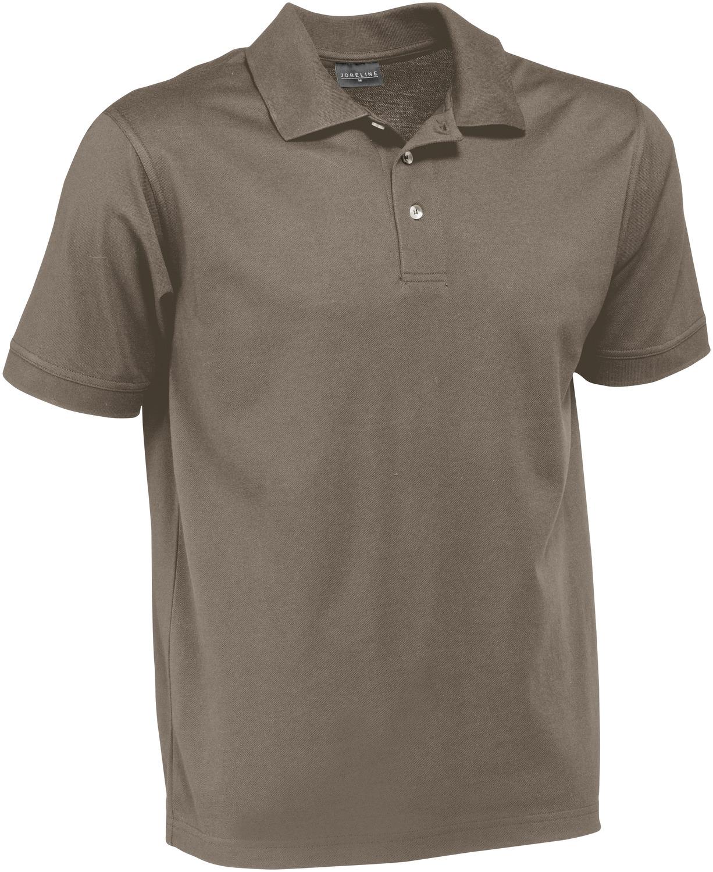 Pánské polo triko Fly, krátký rukáv - šedohnědá