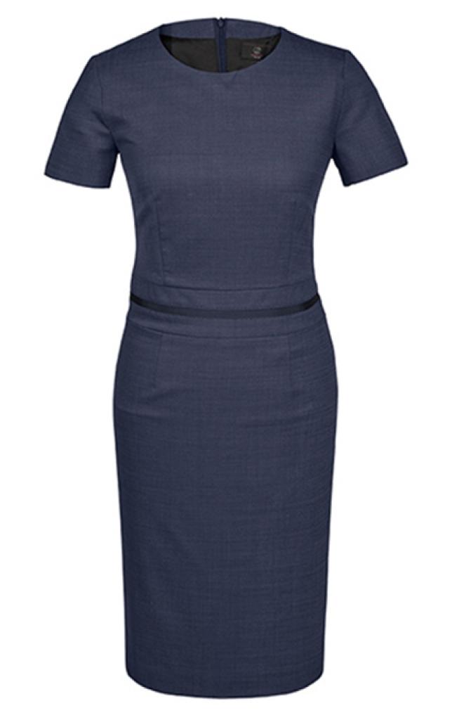 Dámské šaty pinpoint vzor - námořnická modrá