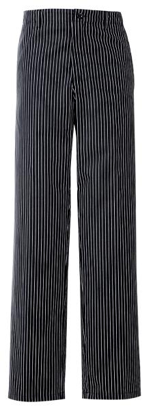 Kuchařské kalhoty černo/bílé proužek