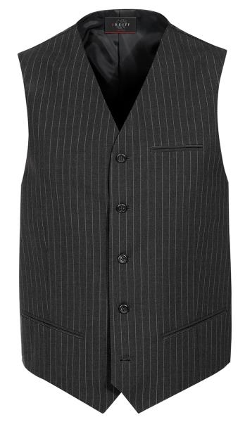 Pánská vesta antracit-proužek