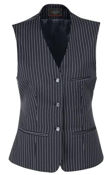 Dámská vesta s proužky - antracitová