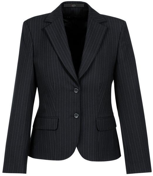 Dámské sako, proužek - černá