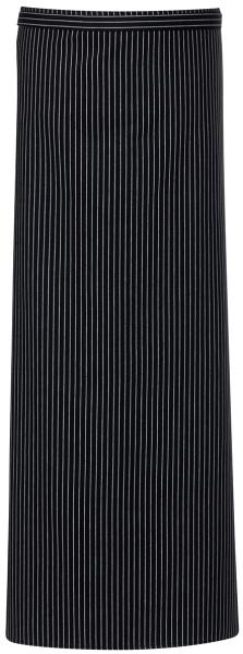 Zástěra černo/bílý proužek