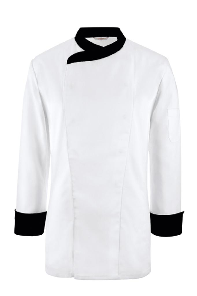 Kuchařský rondon bílý/černé akcenty