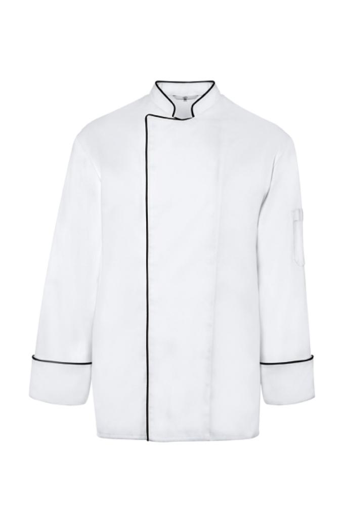 Pánský kuchařský rondon bílá/černý lem