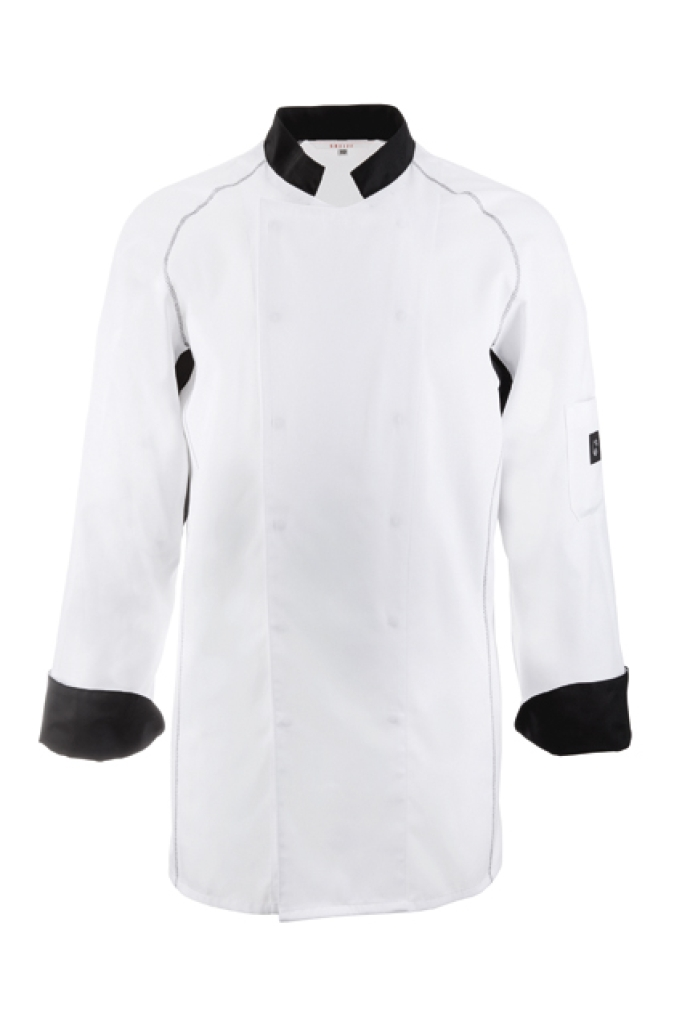 Kuchařský rondon bílá/černá
