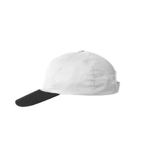 Kšiltovka bílá/černý kšilt