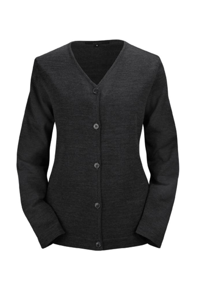 Dámský svetr černý se zapínáním na knoflíky