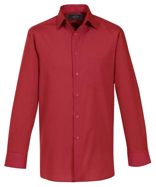 Pánská košile dl. rukáv červená