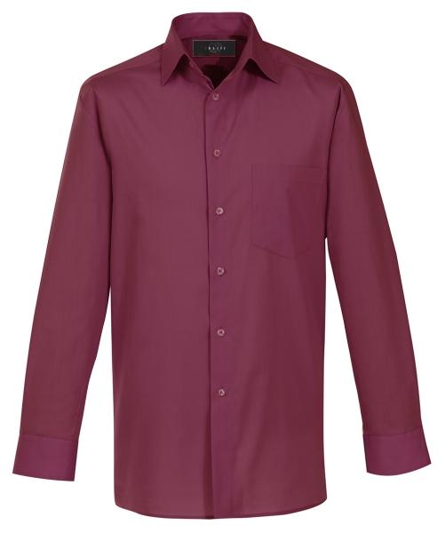 Pánská košile dl. rukáv bordó