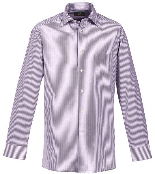 Pánská košile dl. rukáv lila-proužek