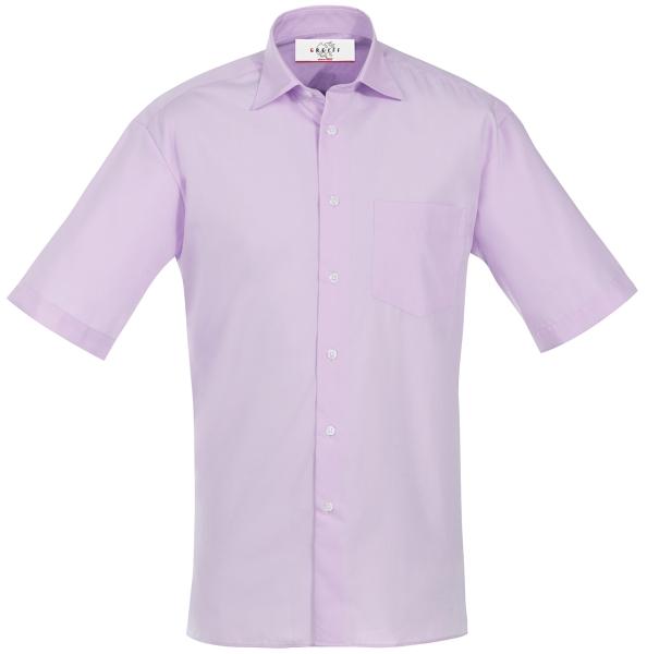 Pánská košile kr. rukáv šeříková