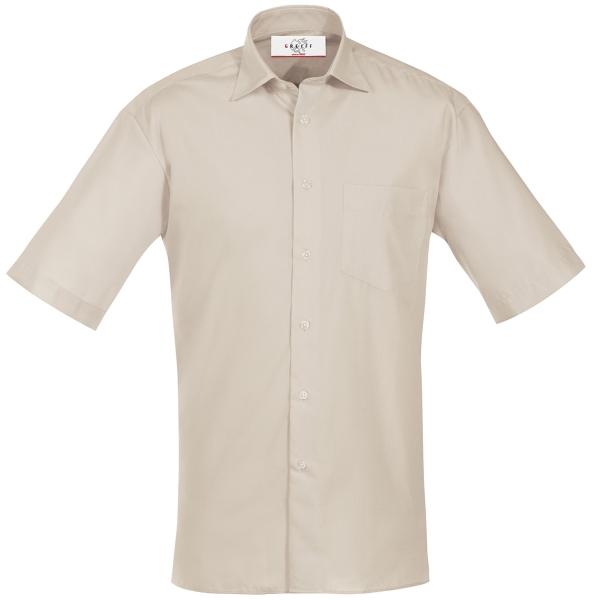 Pánská košile, krátký rukáv - písková