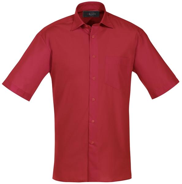 Pánská košile kr. rukáv červená