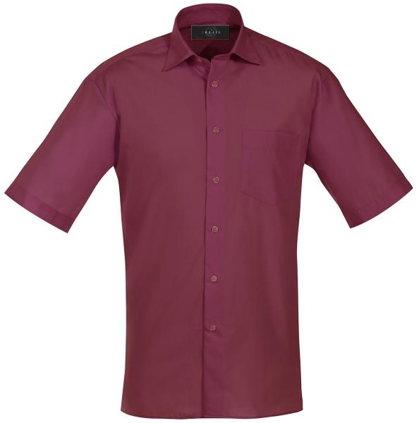 Pánská košile kr. rukáv bordó