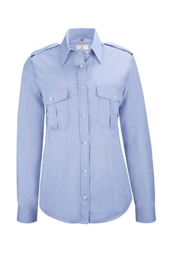 Dámská košile pilotka dl. rukáv sv. modrá