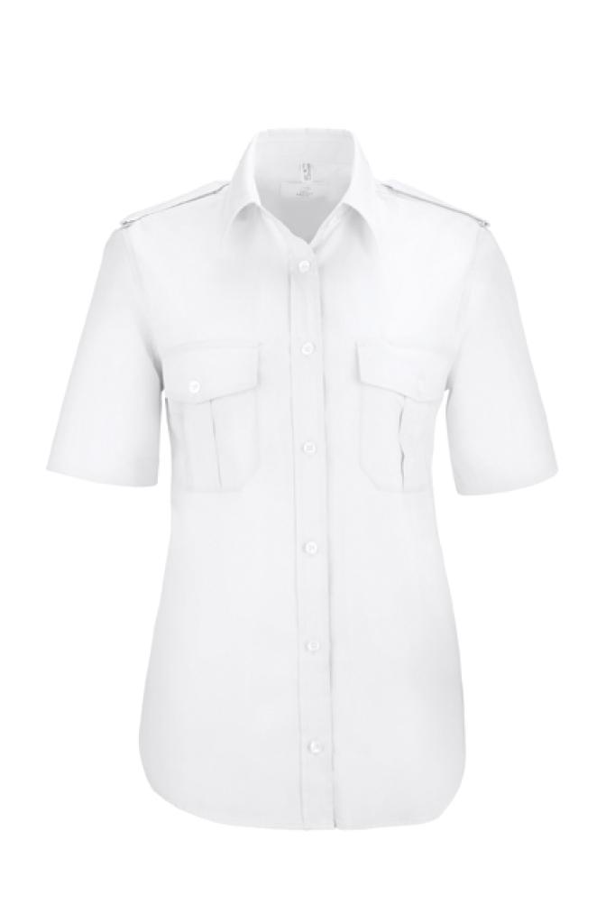 Dámská košile pilotka, krátký rukáv - bílá