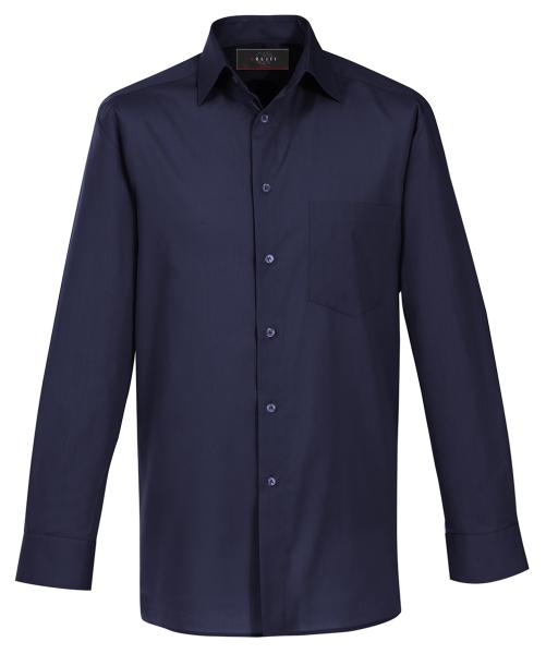 Pánská košile, dlouhý rukáv - námoř. modrá