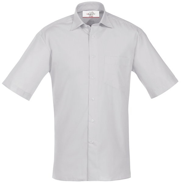 Pánská košile kr. rukáv šedá