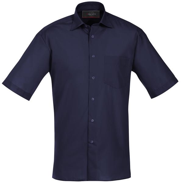 Pánská košile kr. rukáv námoř. modrá