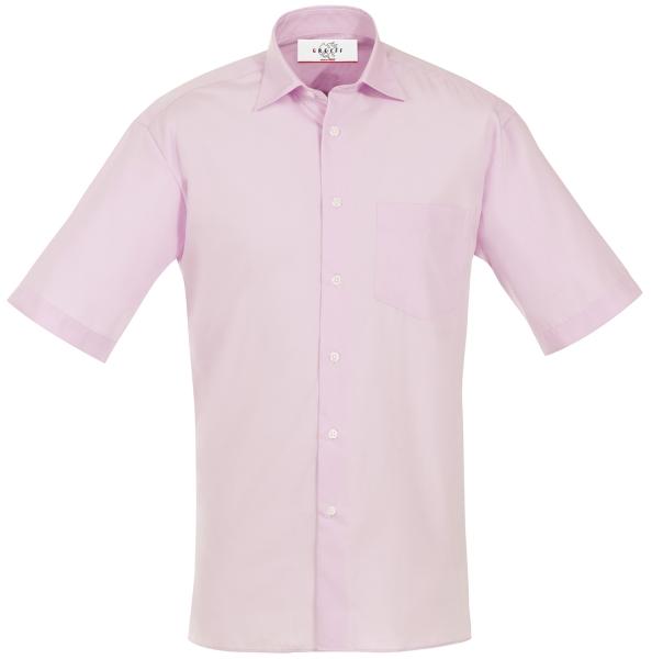 Pánská košile kr. rukáv růžová