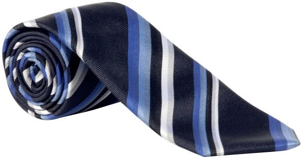 Kravata námoř./světle modrá-proužek