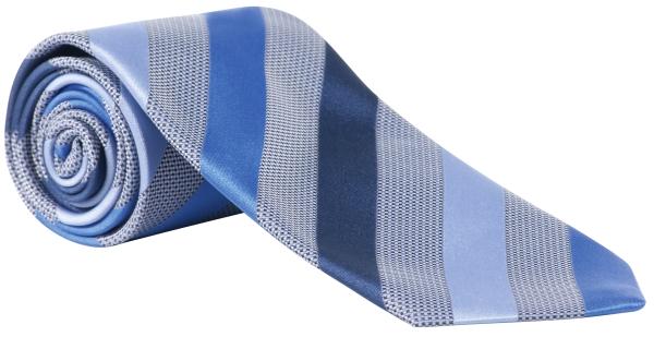 Kravata tmavě modrá-proužek