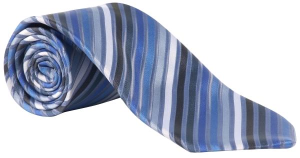 Kravata modrá-proužek