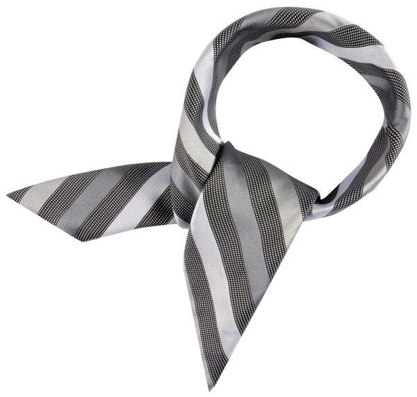 Šátek stříbrnošedá/šedá-proužek