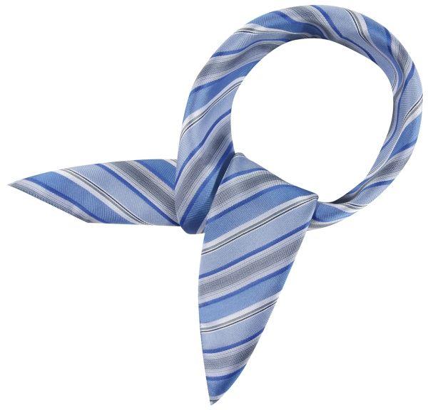 Šátek modrý/šedý-proužek