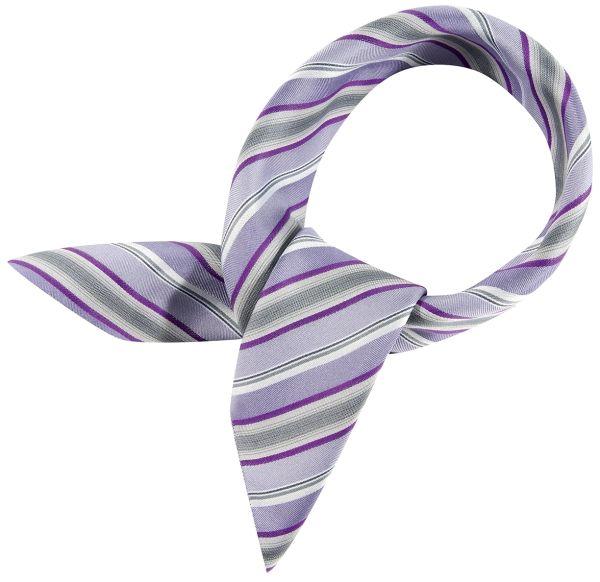 Šátek lila/šedý-proužek | 6901/9800/729