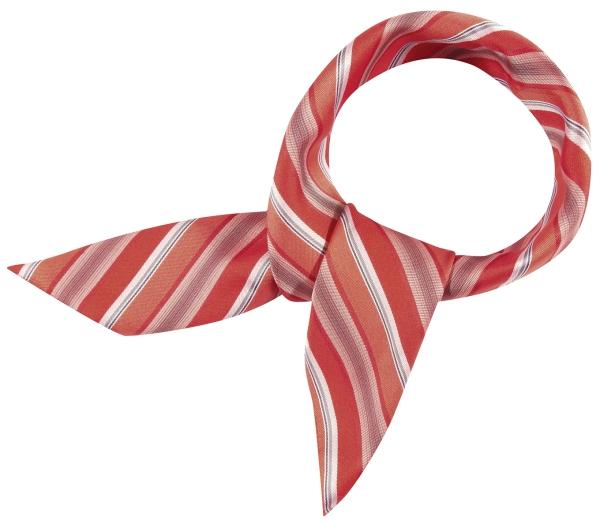 Šátek červený/šedý-proužek