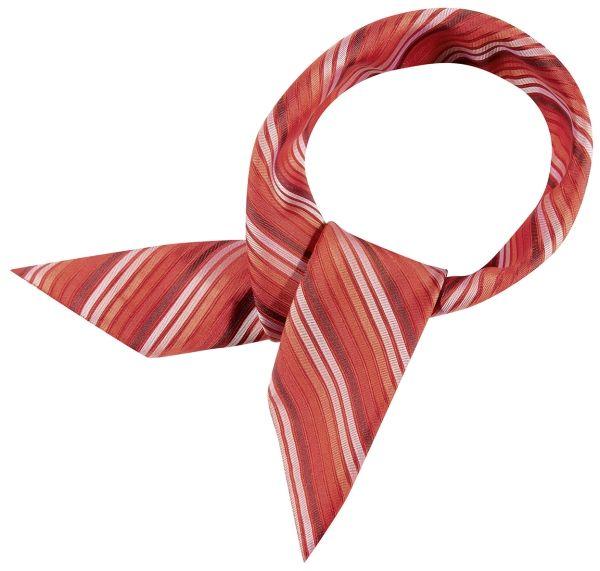 Šátek červený/bílý-proužek