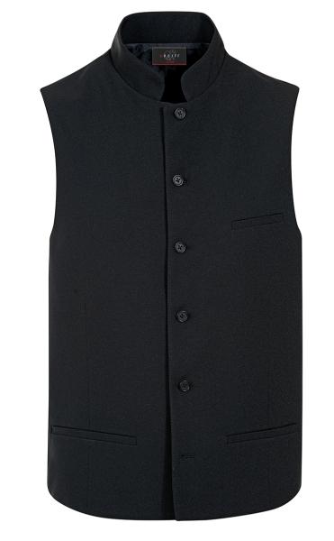 Pánská vesta se stojáčkem černá
