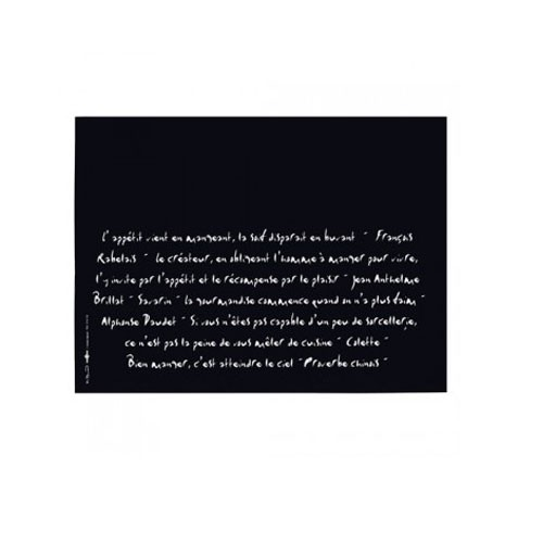 Papírové prostírání Calligraf, černá