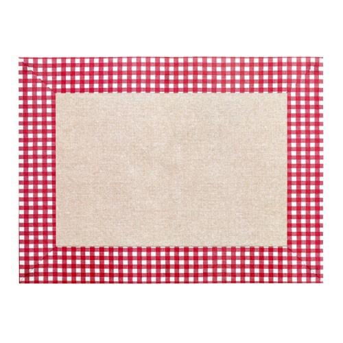 Papírové prostírání Clara, 30x40 cm - červená/bílá