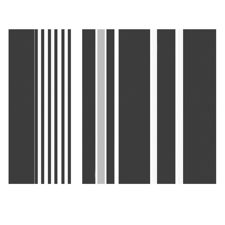 Papírové prostírání Banda, 30x40 cm - černá/bílá