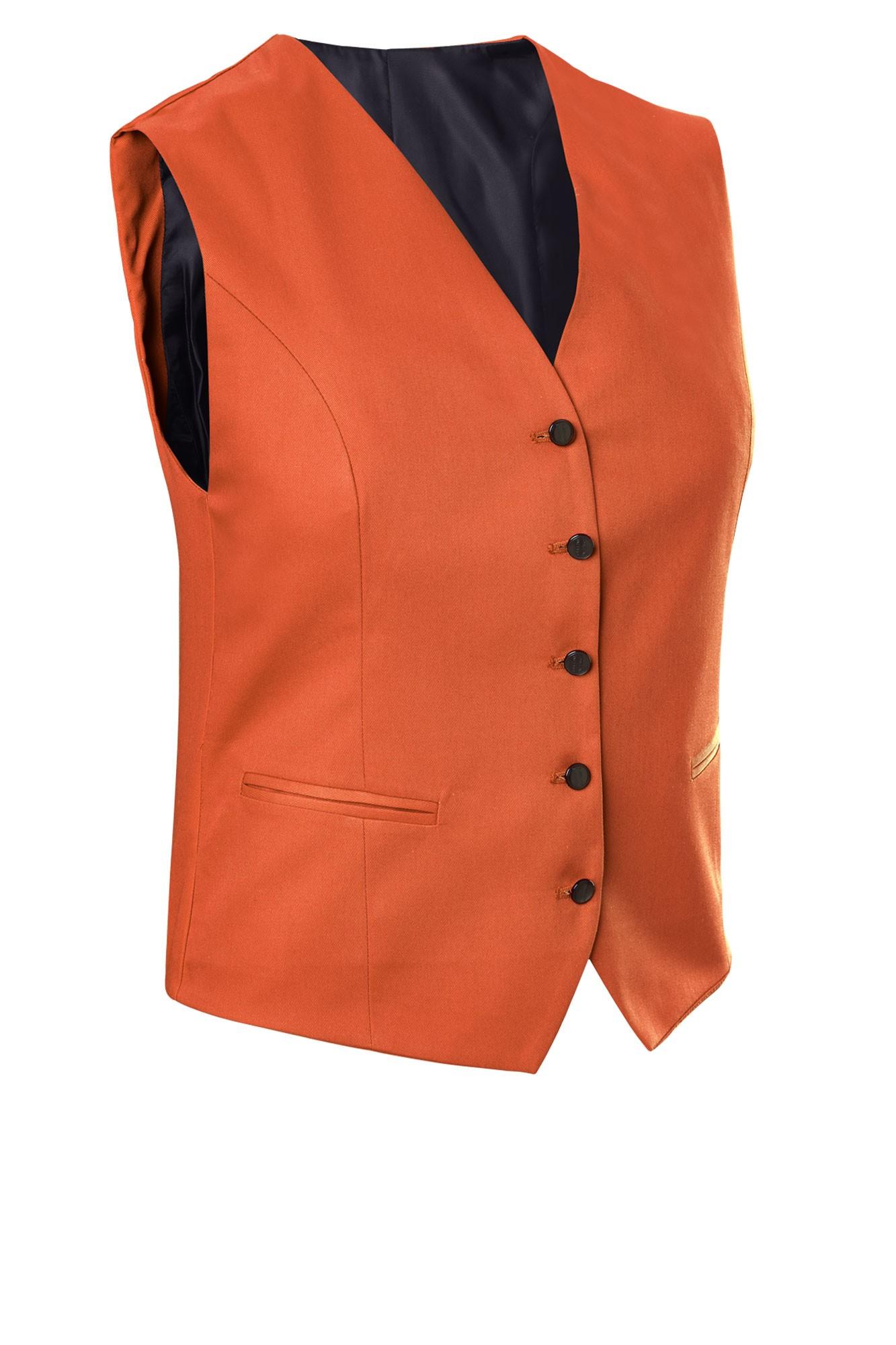 Dámská vesta Bistro - rezavá