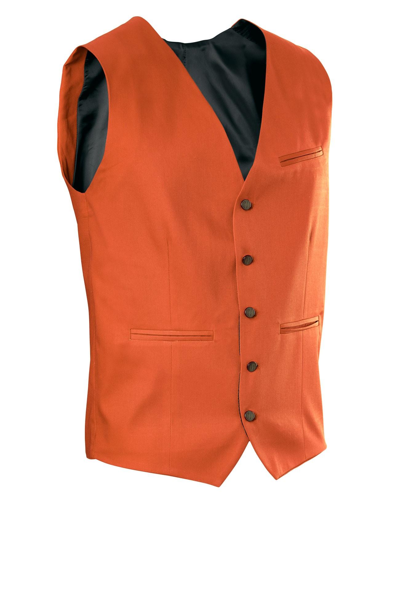 Pánská vesta Bistro - rezavá