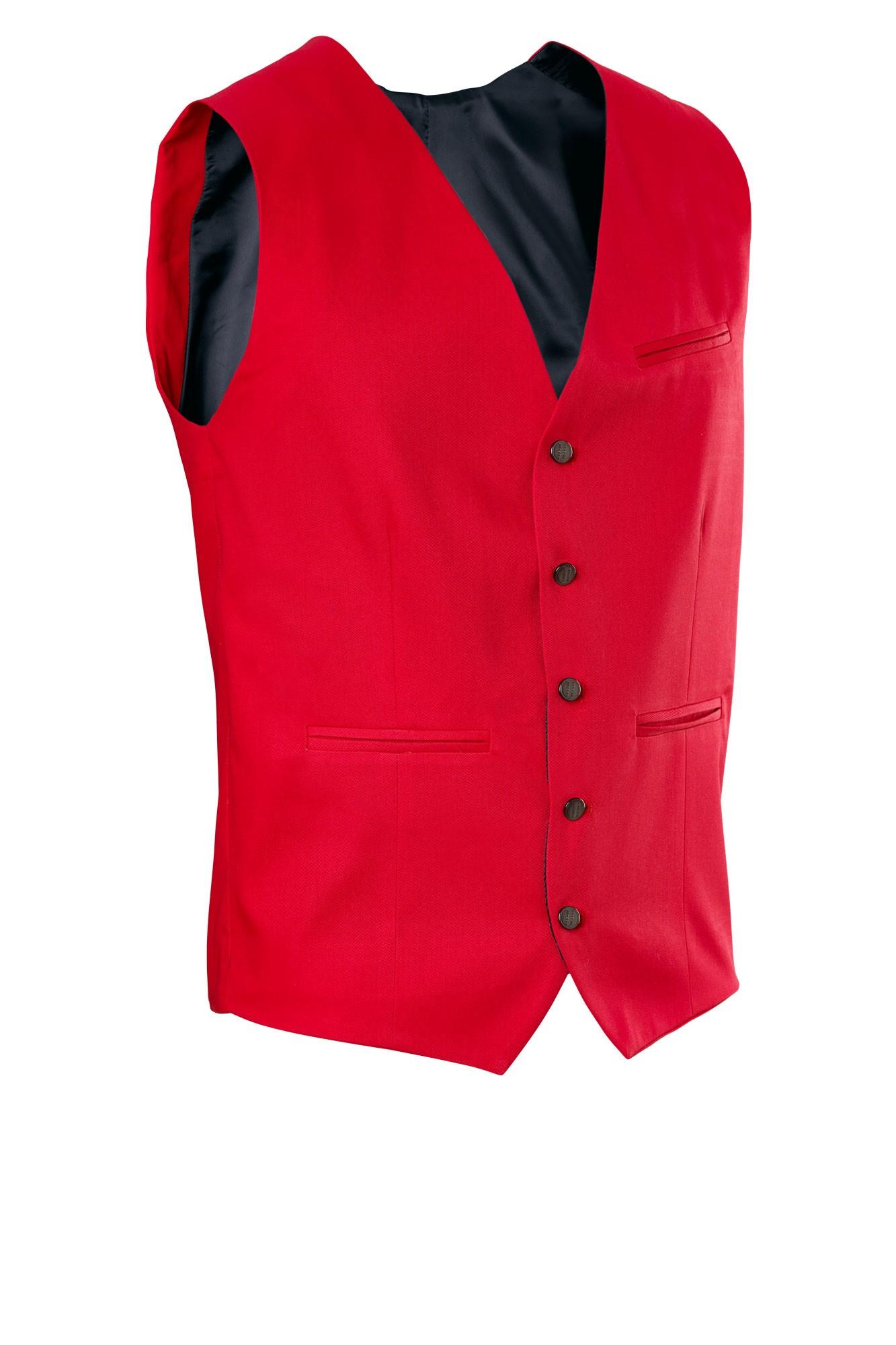 Pánská vesta Bistro - červená
