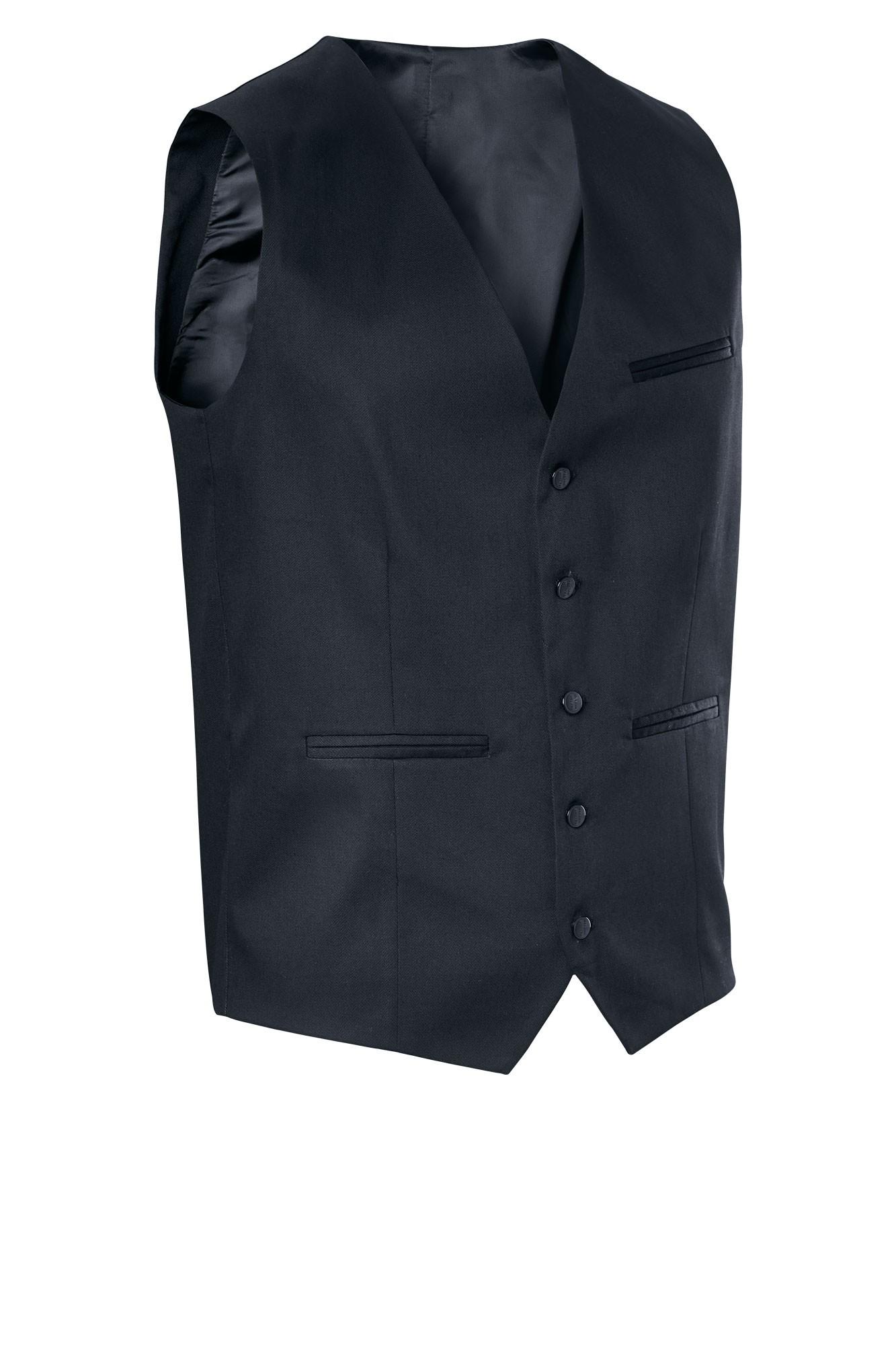 Pánská vesta Bistro - černá