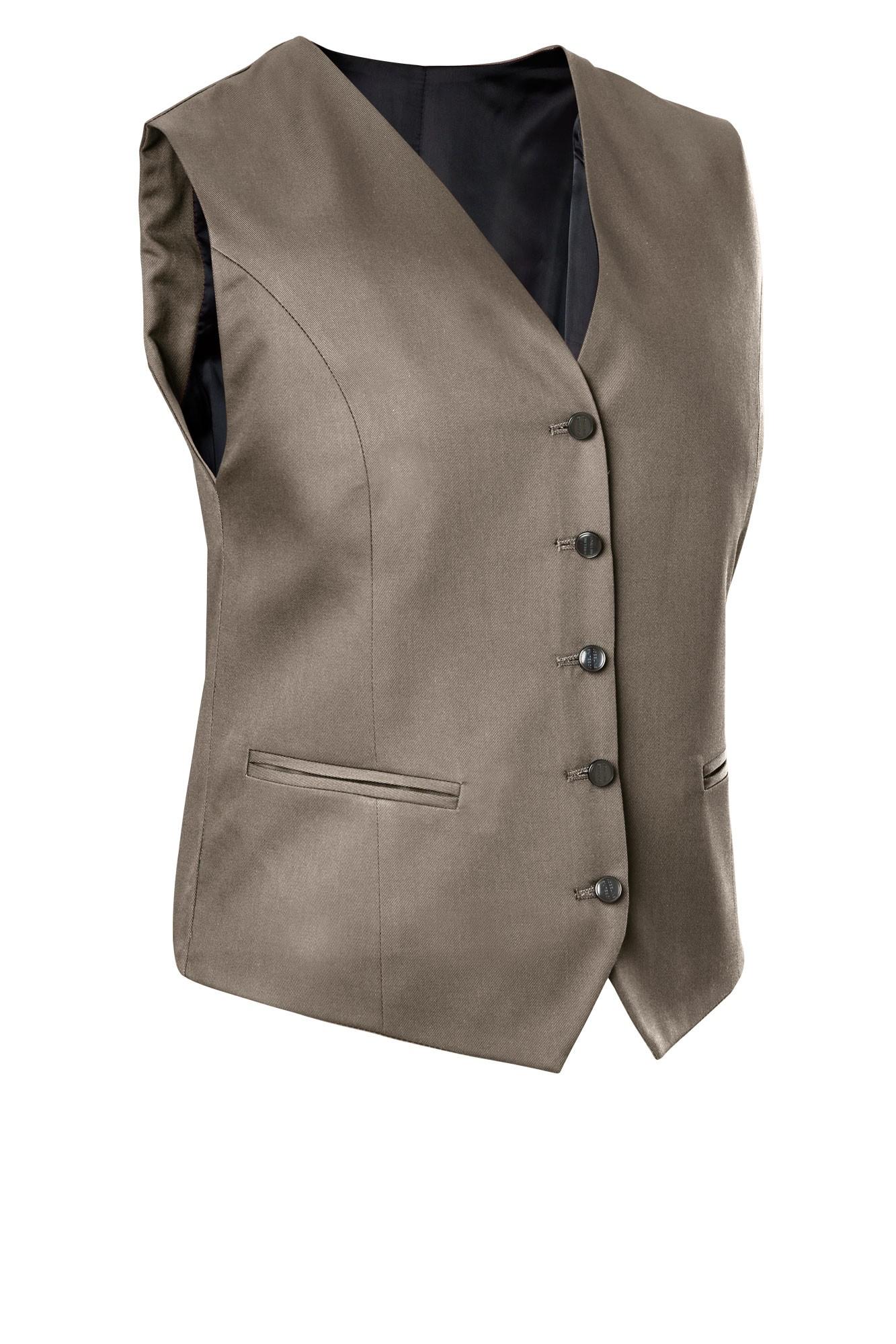 Dámská vesta Bistro - šedohnědá