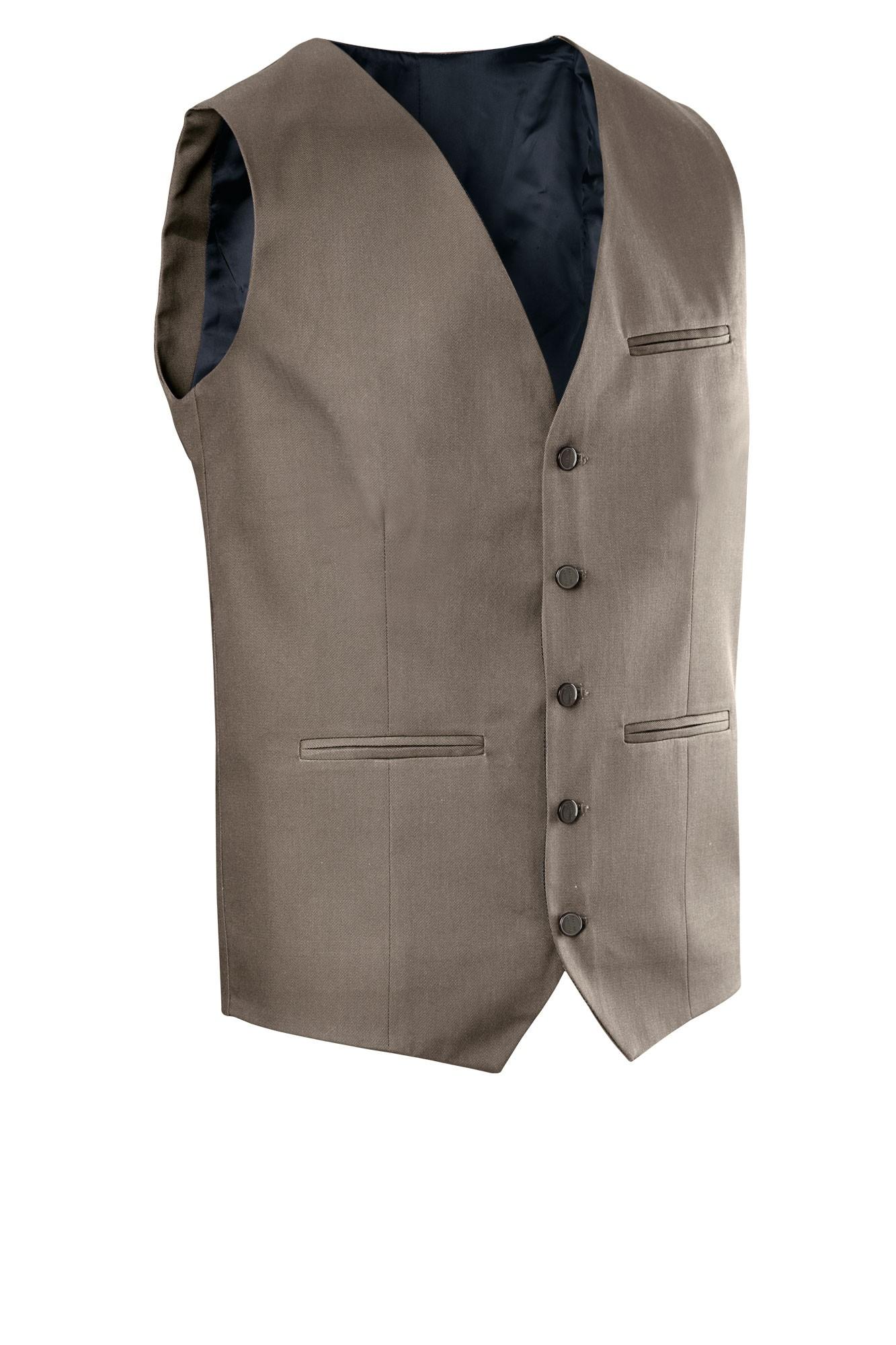 Pánská vesta Bistro - šedohnědá
