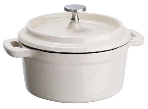 Mini kokotky Cooker, kulaté - bílá