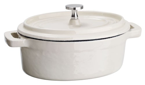 Mini kokotky Cooker, oválné - bílá
