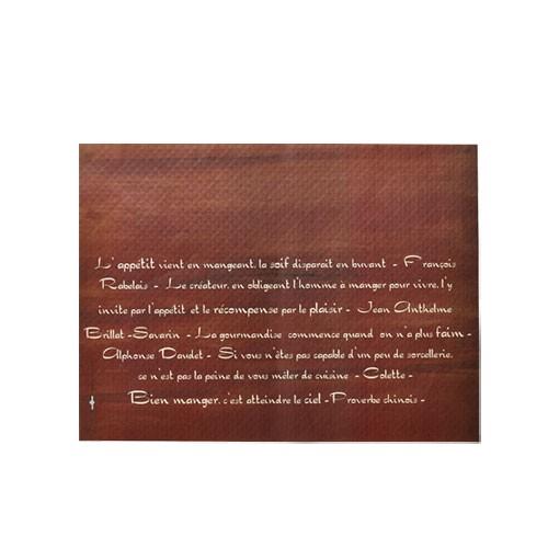Papírové prostírání Calligraf, hnědá