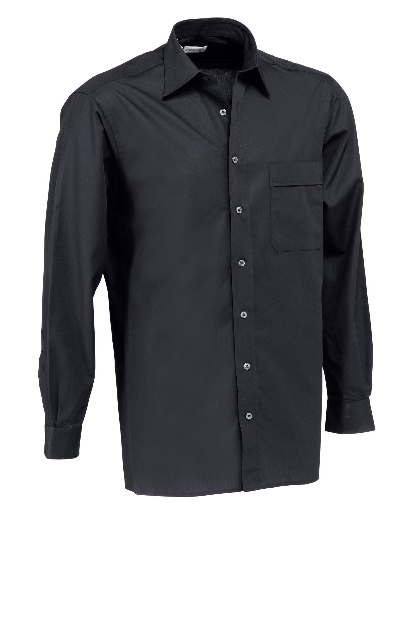 Pánská košile Marc - černá/dlouhý rukáv